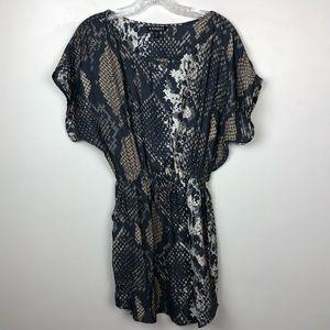 Express Snakeskin Print Mini Dress XS